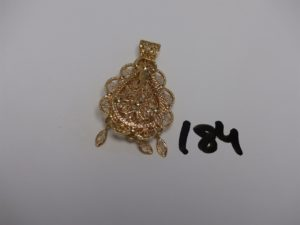1 pendentif meskia en or (H4cm). PB 10,4g
