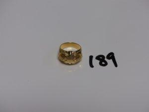 1 bague en or motif central ouvragé (Td 52). PB 8,9g