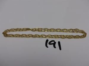 1 chaîne maille marine en or (L59cm). PB 17,2g