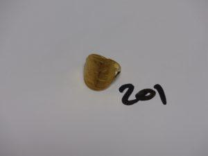 1 bague pièce de 20Frs retournée en or (Td54). PB 8,5g