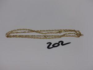 1 chaîne maille alternée en or (L54cm). PB 6,5g