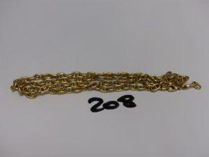 1 chaîne maille marine en or (casse). PB 24g