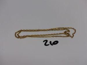 1 chaîne maille jaseron en or (L54cm). PB 12,4g