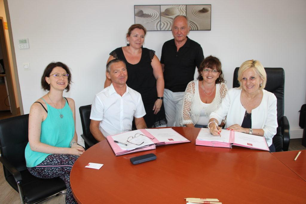 photo directeur crédit municipal et maire de Bourg les valence et leurs équipes