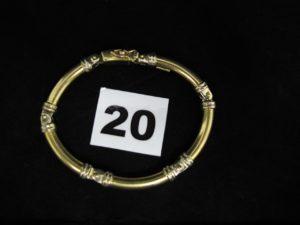 1 bracelet en or bicolore maille articulée (L 17,5cm). PB 24,8g