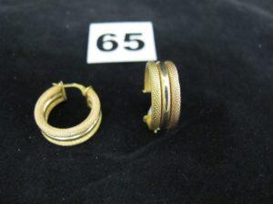 1 bracelet en or rigide ouvrant à décor de têtes de léopards ornées de petites pierres (diam 6,7cm x 5,5cm). PB 24,8g