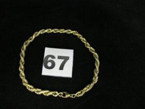 1 chaîne en or maille alternée (L 55cm). PB 5,9g