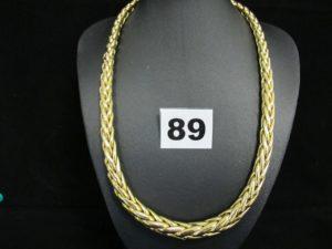 1 collier gradué en or maille palmier (L 44,5cm). PB 38,9g