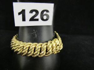 1 bracelet or, maille américaine (L19cm). PB 33,3g