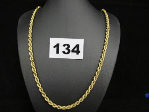1 chaine or maille corde (L50cm). PB 8,9g