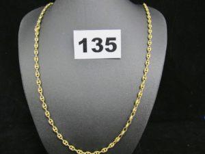 1 chaine or maille grain de café (L51cm fermoir cassé). PB 10,9g