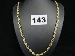 1 chaine or maille grain de café (L50cm). PB 23,2g