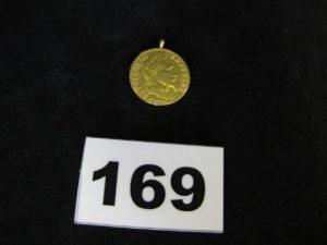 1 Pendentif pièce Napoleon III 10fr. PB 3,2g