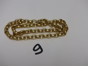 1 collier maille alternée en or (L46cm). PB 38,9g