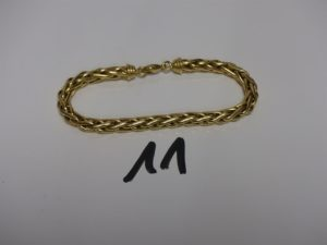 1 bracelet maille palmier en or (L19cm). PB 12,2g