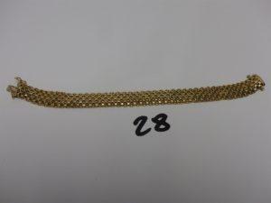 1 bracelet maille tressée en or (L19cm).PB 11,8g (fermoir cassé)