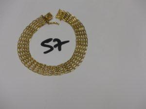 1 bracelet maille tressée en or (L20cm). PB 13,4grs