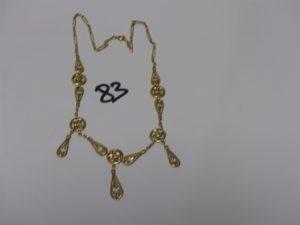 1 collier draperie en or (L42cm). PB 16g