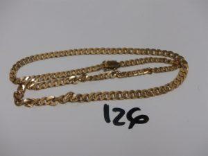 1 collier maille gourmette en or(L50cm). PB 31,2g