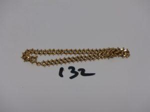 1 bracelet maille fantaisie en or (L21cm). PB 8,4g