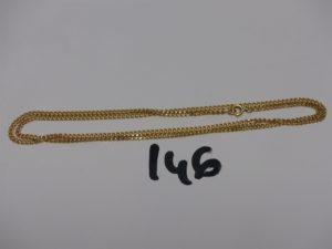1 chaîne maille gourmette en or (L55cm). PB 9,2g