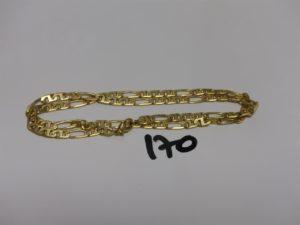 1 chaîne maille alternée en or (L51cm). PB 24,9g