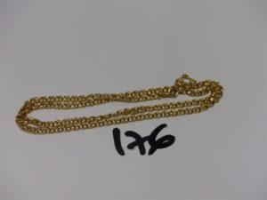 1 chaîne maille tressée en or avec sécurité (L44cm). PB 12,1g