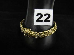 1 bracelet en or maille fantaisie large (L 20cm). PB 26g