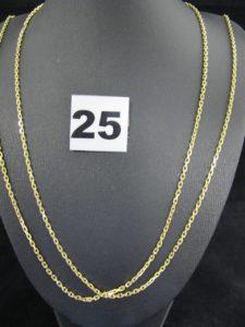1 sautoir en or, maille forçat (L 94 cm réglable). PB 14,6g