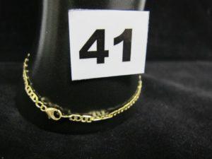 1 bracelet en or maille marine (L 18,5cm). PB 3,4g