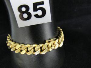 1 gourmette en or (L 19cm). PB 58,8g