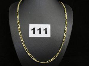 1 chaîne en or maille figaroe (L 50cm). PB 5,8g