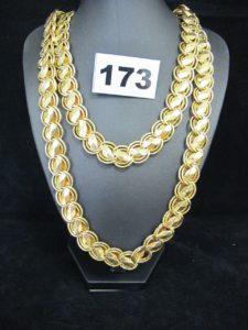 1 sautoir en or maille paillette (L 99cm). PB 45,3g