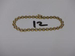 1 bracelet chenille en or orné de petits diamants (L18cm). PB 5,1g