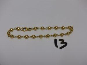 1 bracelet boules en or (L20cm).PB 7,8g