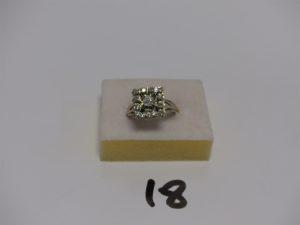 1 bague en or ornée de diamants environ 0,30cts le tout (1 abimé, Td55). PB 5,7g