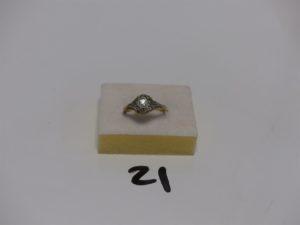 1 solitaire en or orné d'1 diamant d'environ 0,15ct (Td56). PB 2,5g