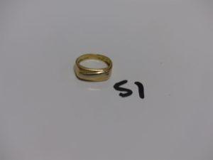 1 chevalière en or (Td53). PB 4,5g