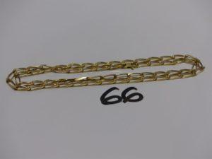 1 chaîne maille alternée en or (L60cm). PB 21g