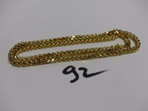 1 chaîne en or maille tressée (L50cm). PB 16,5g