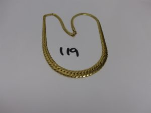 1 collier maille anglaise en or (L42cm). PB 13g