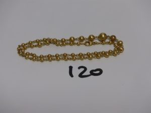 1 collier boules en or (L45cm). PB 10,2g