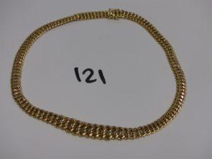 1 collier maille américaine en or (L45cm). PB 26,5g