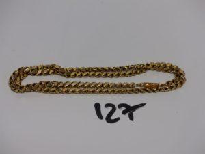 1 chaîne maille fantaisie en or (L48cm). PB 10,5g