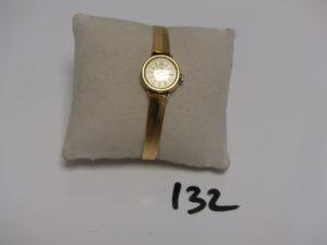 1 montre Dame bracelet et boîtier or de marque Thisy (L16cm, en état de marche). PB 18,1g