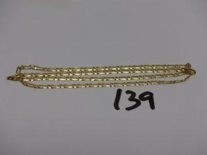 1 chaîne maille alternée en or (L50cm). PB 8,4g