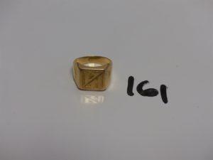 1 chevalière en or gravée (Td62). PB 7,3g