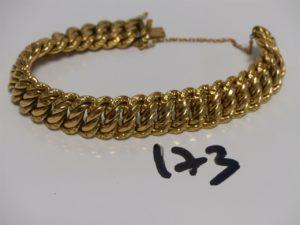 1 bracelet maille américaine en or (L18cm). PB 25,4g