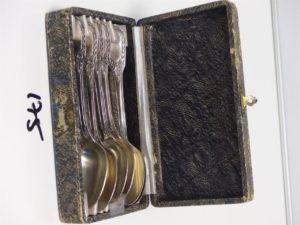 6 petites cuillères en métal argenté. PB 197,8g
