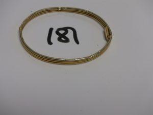 1 bracelet casse en or. PB 8,7g
